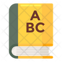 Educational Book English Book Handbook Icon