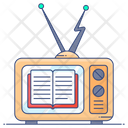 Educational Channel Educational Transmission Online Study Icon