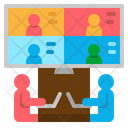 Educational Conference Online Learning Webcam Icon