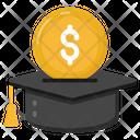 Educational Loan Scholarship Sponsored Education Icon