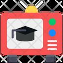 Educational News Educational Broadcast Study News Icon