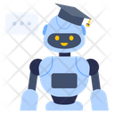 Ai Education Educational Robot Artificial Education Icon