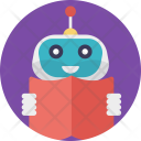 Education Robot Book Icon