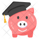 Educational Savings Academic Savings Piggy Bank Icon