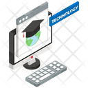 E Learning Distance Education Virtual Learning Icon