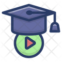 Educational Video Video Based Learning Videography Education Icon