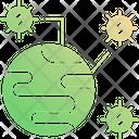 Effective Areas Worldwide Virus Disease Icon