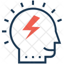 Efficiency Brain Thunder Icon