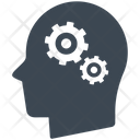 Brainstorming Gear Head Icon