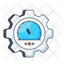 Efficiency Management Business Management Speedometer Icon