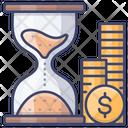 Efficient Money Hourglass Icon