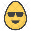 Sunglacess Egg Emoji Emoticon Icon