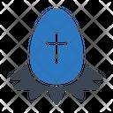 Egg Easter Cross Icon