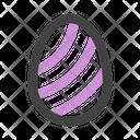 Egg Stripes Icon