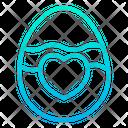 Paschal Egg Easter Egg Heart Icon