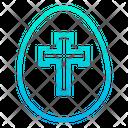 Cross Egg Paschal Egg Cross On Egg Icon