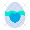 Paschal Egg Easter Egg Heart Icon