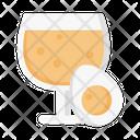 Egg Yolk Glass Icon