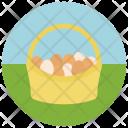 Egg Basket Bucket Icon