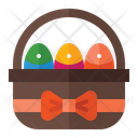 Egg Basket Basket Picnic Icon