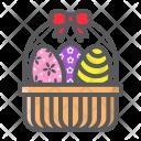 Eggs Basket Decoration Icon