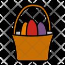 Egg Bucket Easter Eggs Egg Painting Icon