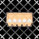 Egg Carton Egg Tray Icon