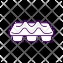 Carton Food Tray Icon