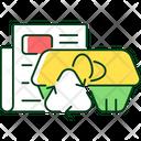 Egg Carton Recycle Icon