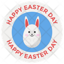 Egg Hunt Badge Easter Badge Easter Emblem Icon