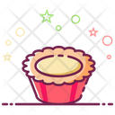 Egg Tart Caramel Custard Dessert Icon