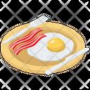 Egg With Bacon Fried Egg Egg Bacon Icon
