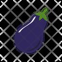 Eggplant Vegetable Food Icon