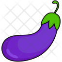 Eggplant Colored Beans Icon