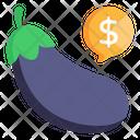 Eggplant Price Icon