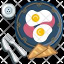 Eggs Ham Baguette Icon