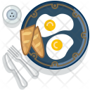 Eggs Baguette Breakfast Icon