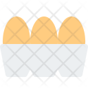 Eggs Food Tray Icon