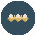 White Eggs Tray Icon