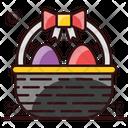 Eggs Bucket Easter Hamper Decorative Bucket Icon