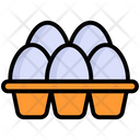 Eggs In Carton Eggs Tray Icon