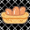 Egg Egg Basket Eggs Icon