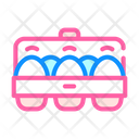Eggs Package Color Icon