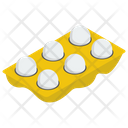 Eggs Tray Dairy Ingredient Icon
