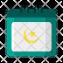 Ramadan Calendar Muslim Icon