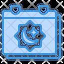Calendar Ramadan Calendar Date Icon