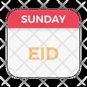 Eid Sunday Date Icon