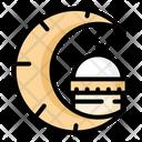 Eid Ramadhan Night Moon Icon