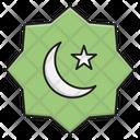 Eid Badge Moon Icon