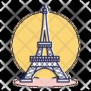 Travel Destination France Icon